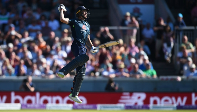 Pure elation for Jos Buttler as he hits the winning runs at Old Trafford.