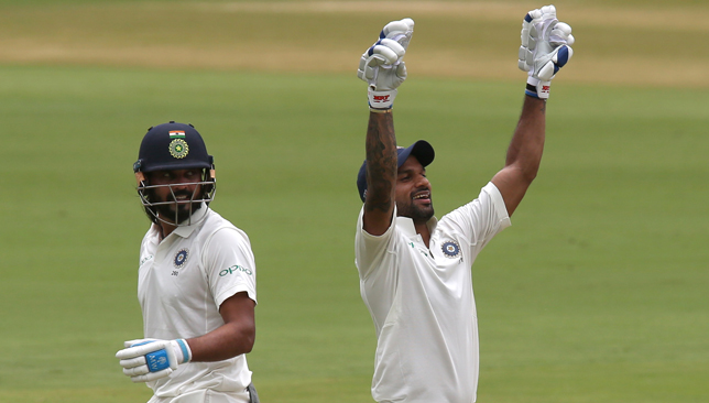Dhawan (r) and Vijay both scored centuries.