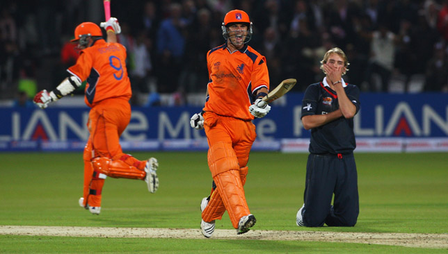 Stuart Broad missed a run-out in the 2009 game against Netherlands