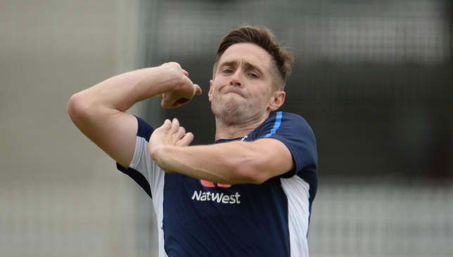 On the sidelines: Chris Woakes