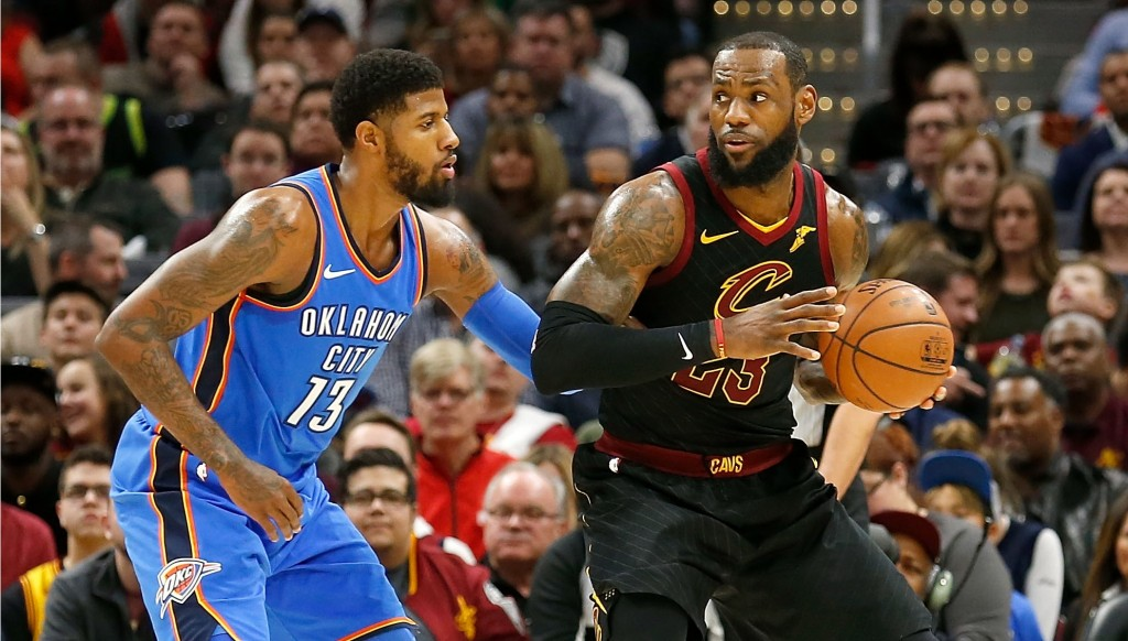 Paul George and LeBron James could be in purple and gold next season.