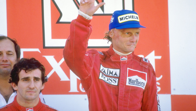 Alain Prost and Niki Lauda