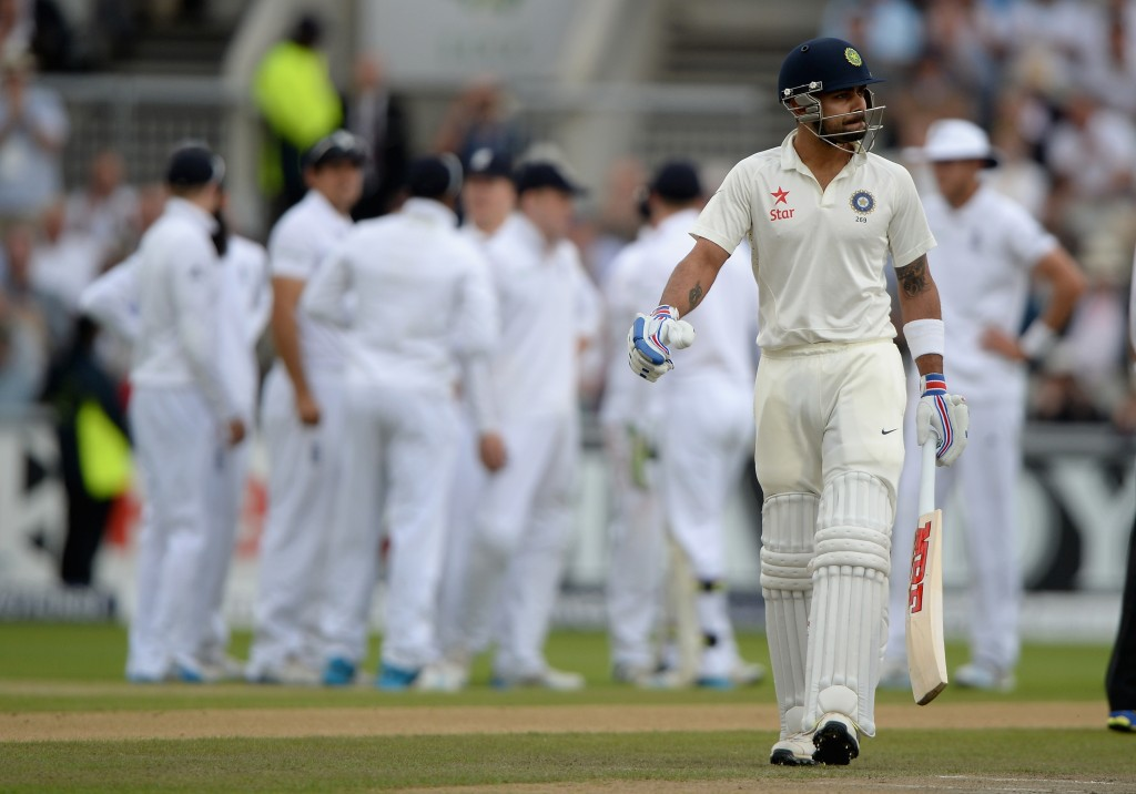 Kohli has struggled previously with the red-ball in England.