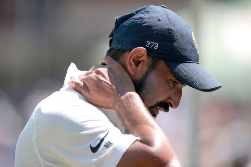 Shami was dropped from the Afghanistan Test after his failure.