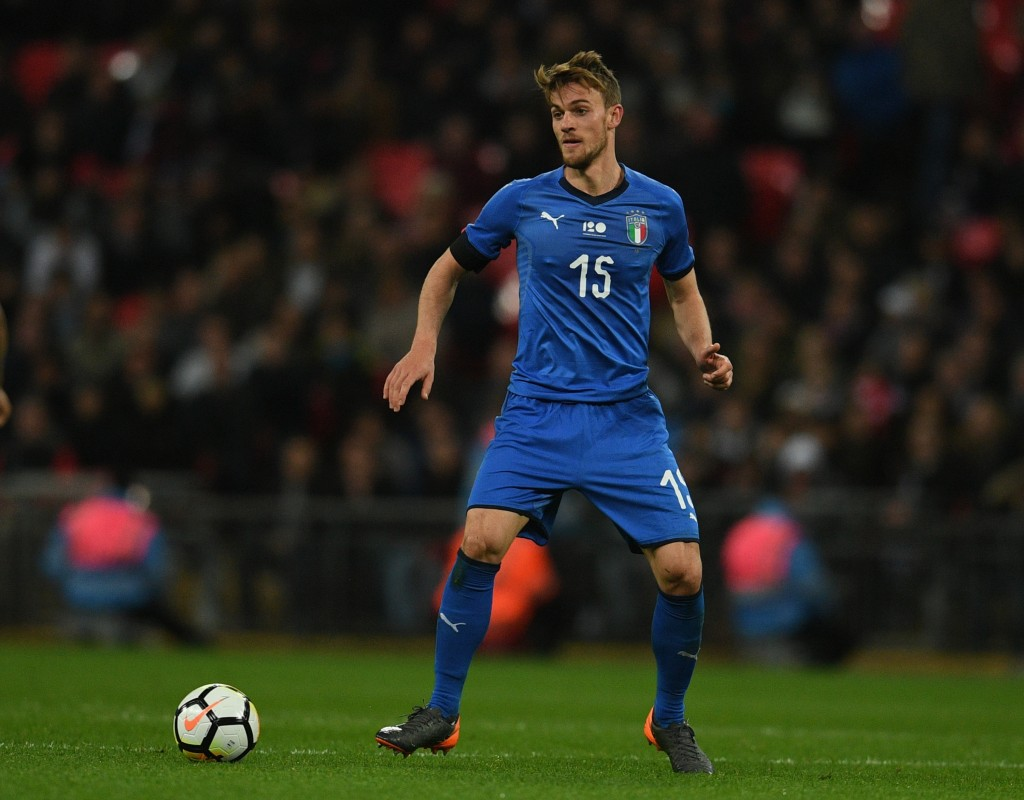 LONDON, ENGLAND - MARCH 27: Daniele Rugani of Italy in action during the friendly match between England and Italy at Wembley Stadium on March 27, 2018 in London, England. (Photo by Claudio Villa/Getty Images)
