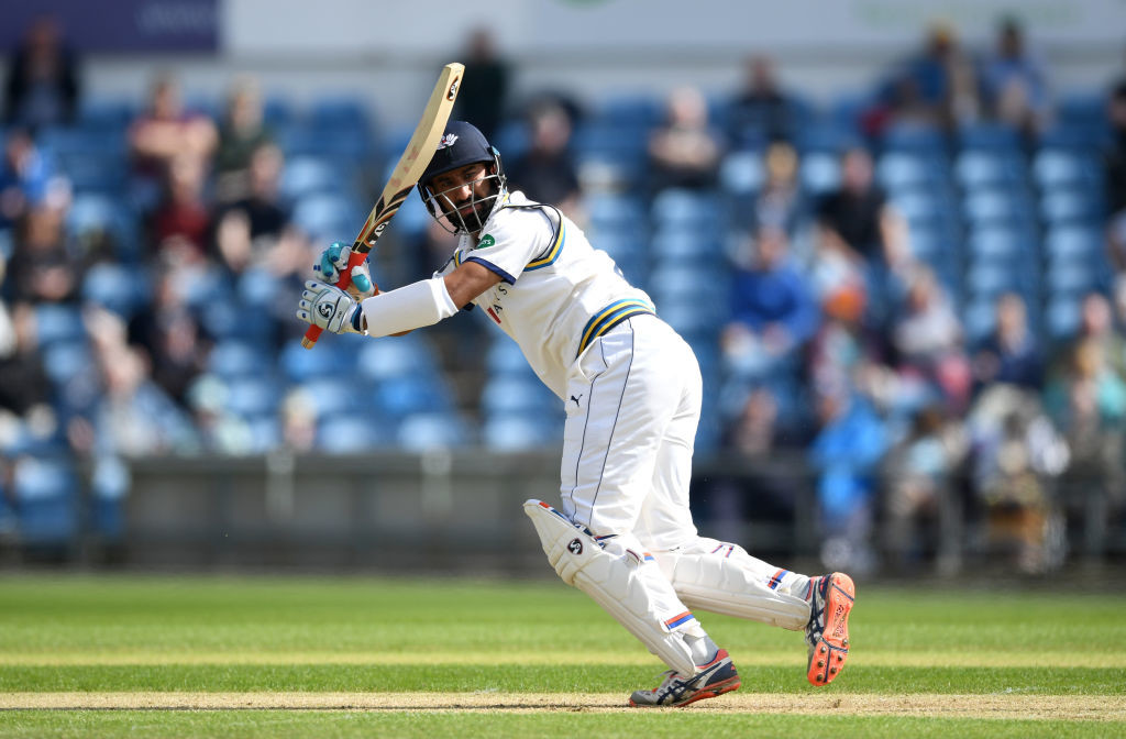 Pujara struggled in red-ball cricket for Yorkshire.