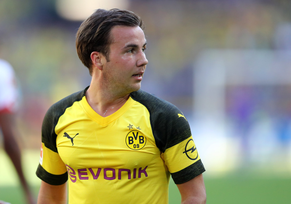 DORTMUND, GERMANY - MAY 05: Mario Goetze of Dortmund is seen during the Bundesliga match between Borussia Dortmund and 1. FSV Mainz 05 at Signal Iduna Park on May 5, 2018 in Dortmund, Germany. (Photo by Christof Koepsel/Bongarts/Getty Images)