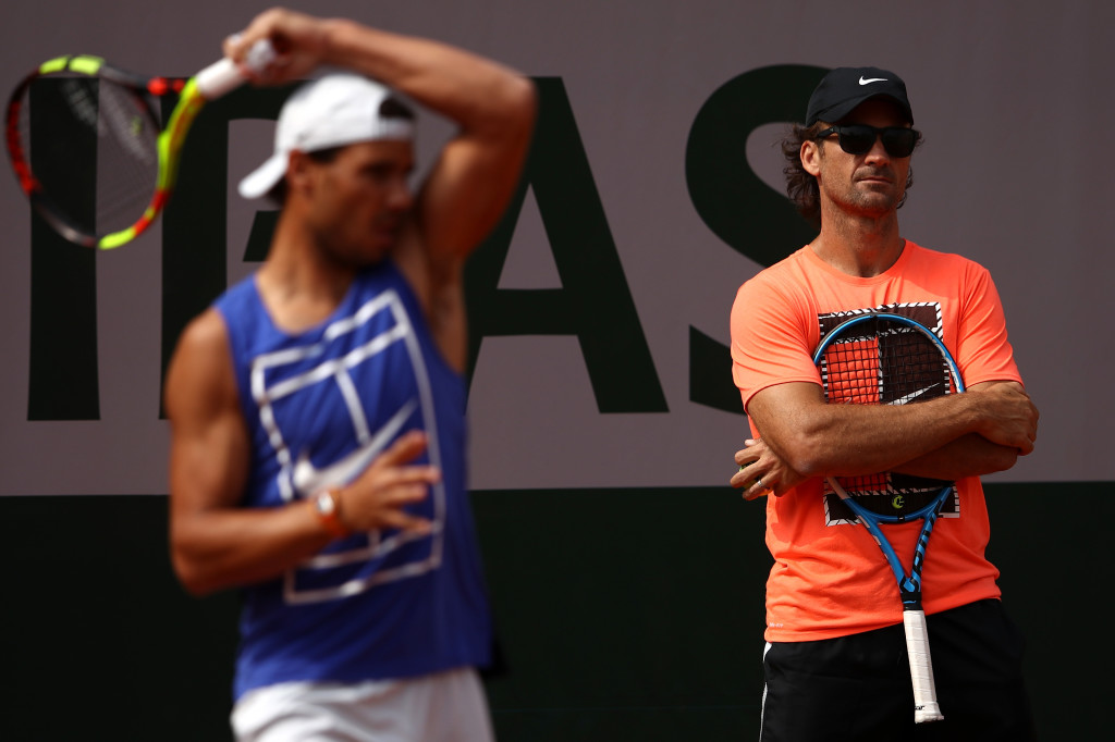 Rafael Nadal leads Roger Federer after French Open victory