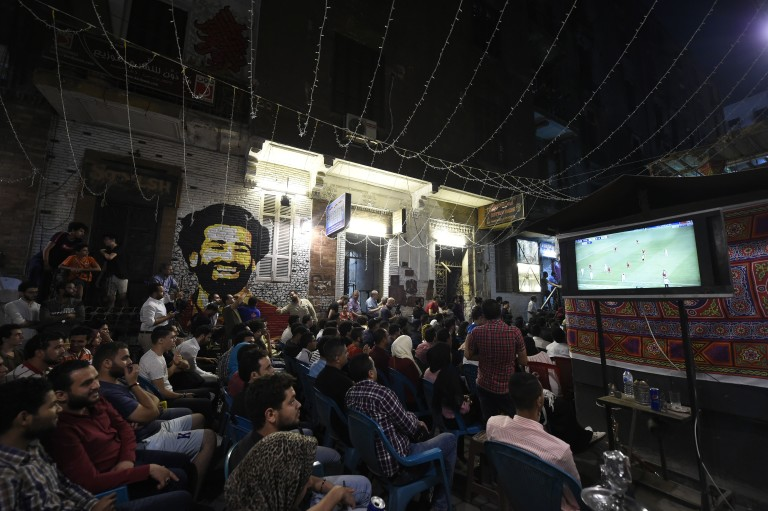 TOPSHOT-FBL-C1-REAL MADRID-LIVERPOOL-EGYPT-FAN