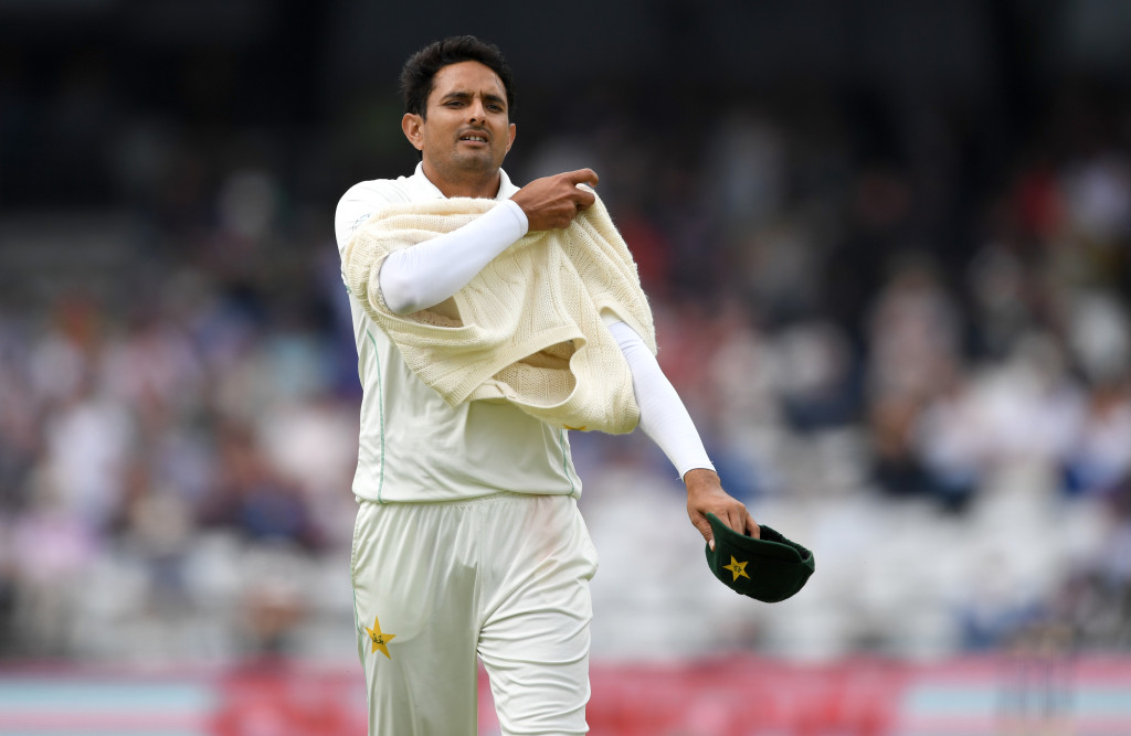 LEEDS, ENGLAND - JUNE 02: Mohammad Abbas of Pakistan during day two of the 2nd NatWest Test match between England and Pakistan at Headingley on June 2, 2018 in Leeds, England. (Photo by Gareth Copley/Getty Images)