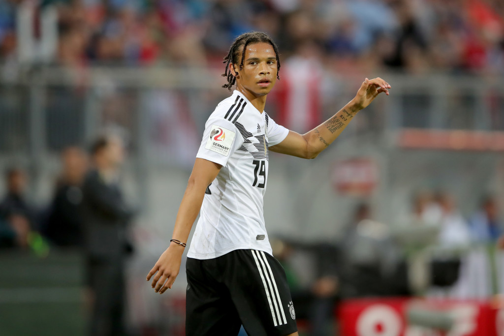 Leroy Sane during the friendly with Austria.