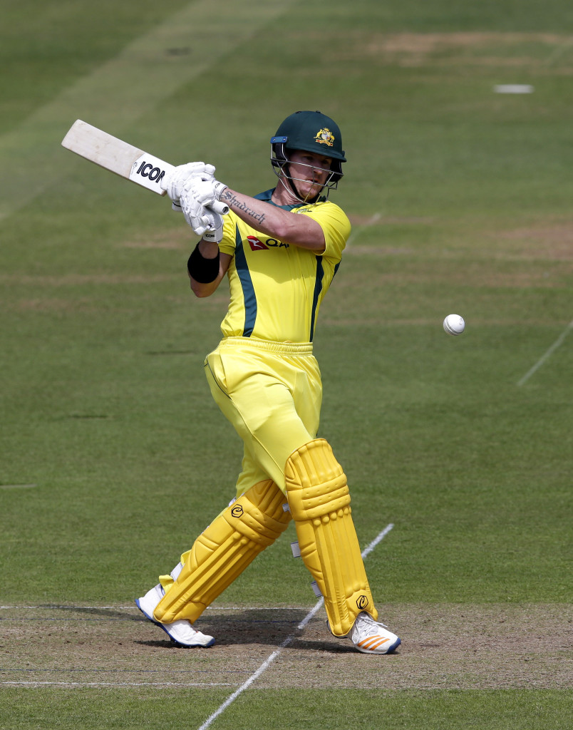 LONDON, ENGLAND - JUNE 09: D'Arcy Short of Australia during the One Day Tour match between Middlesex and Australia at Lord's Cricket Ground on June 9, 2018 in London, England. (Photo by Henry Browne/Getty Images)
