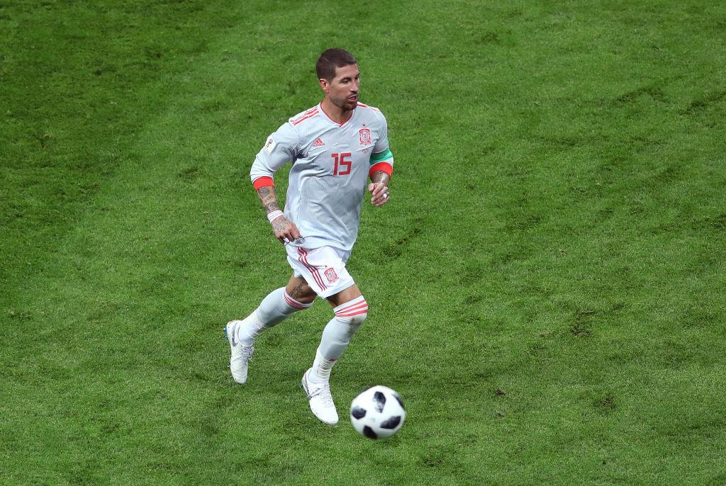 On the ball: Sergio Ramos.