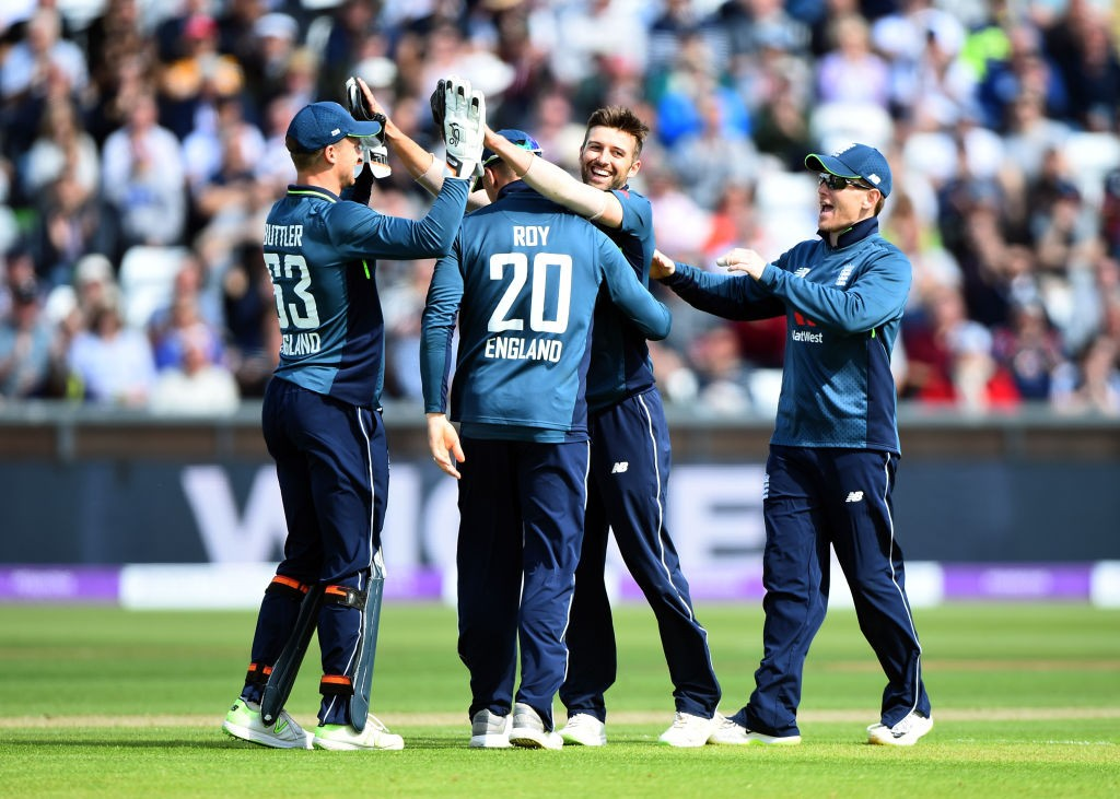 Wood triggered an Aussie collapse with a double-wicket over.