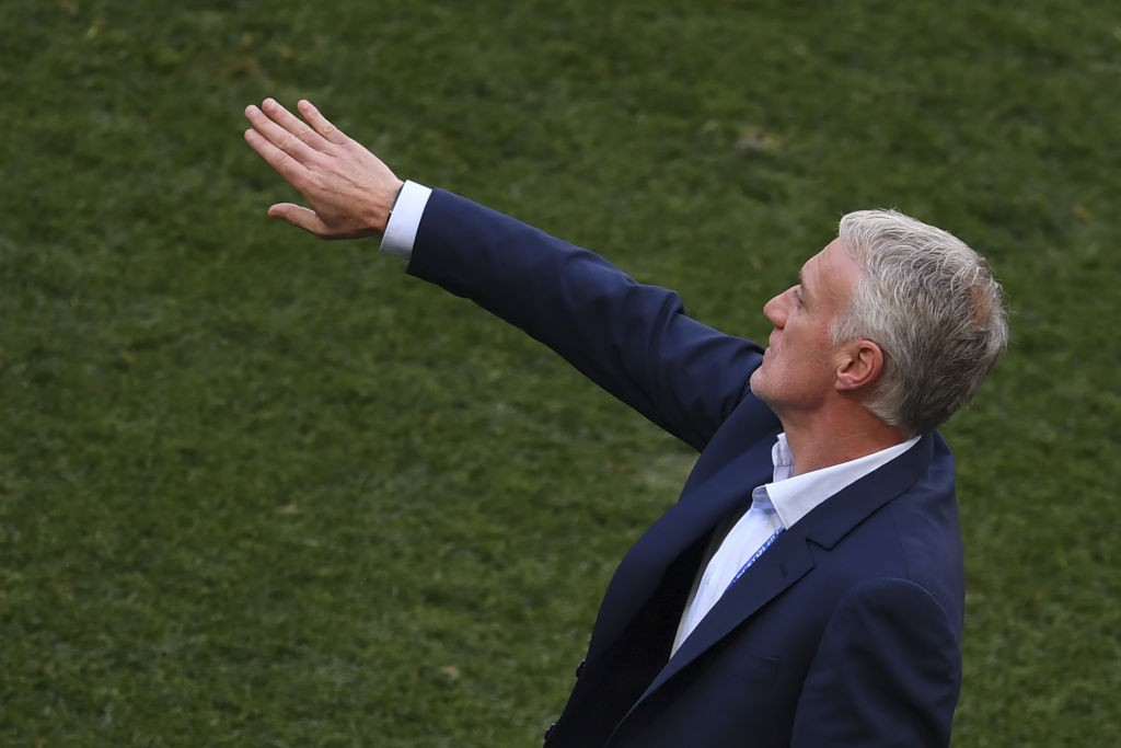 'Stay back': Didier Deschamps.