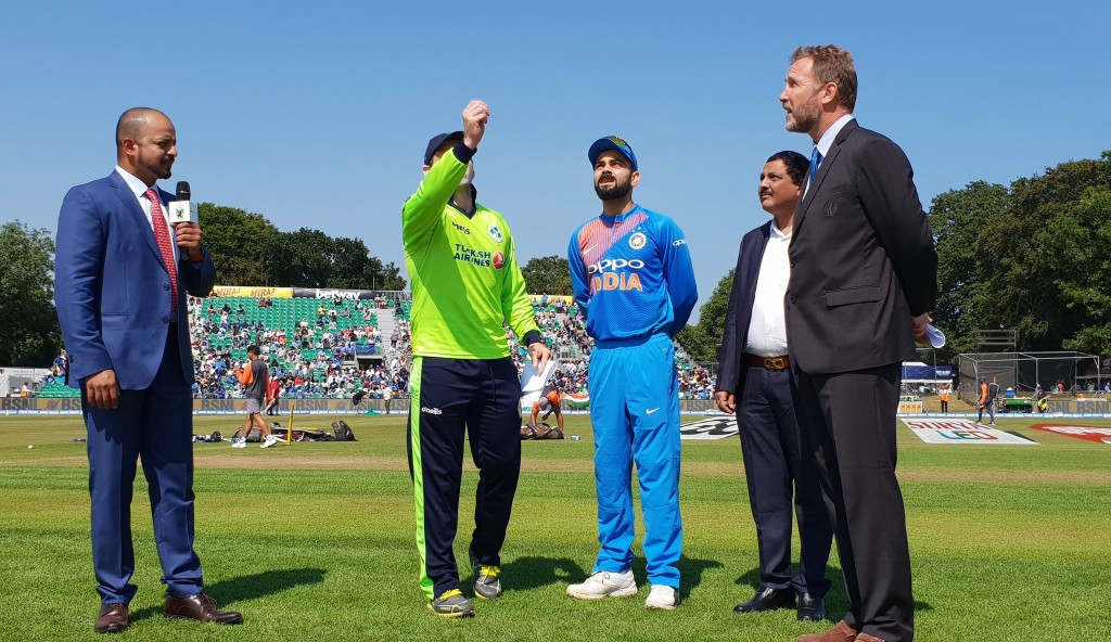 The two captains at the toss. Image - BCCI/Twitter.