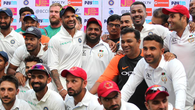 Afghanistan had played India in their inaugural Test. Image - BCCI.