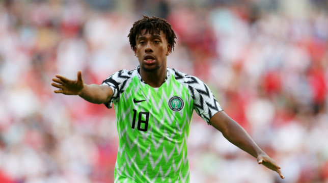 Arsenal's Alex Iwobi is one of Nigeria's star men.