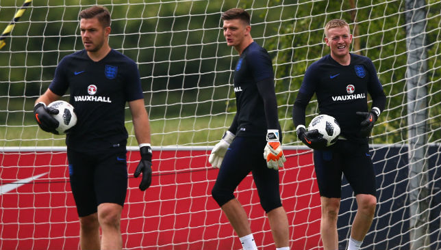 Jack Butland, Nick Pope and Jordan Pickford