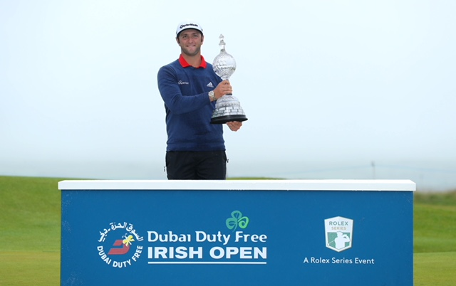 Last year's Dubai Duty Free Irish Open winner Jon Rahm