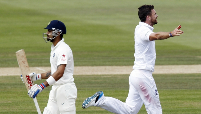 Kohli has struggled against James Anderson previously in England.
