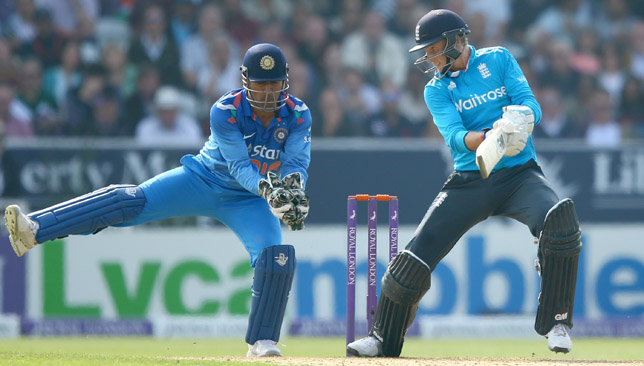 MS Dhoni started using his right leg while keeping to stop cut shots.
