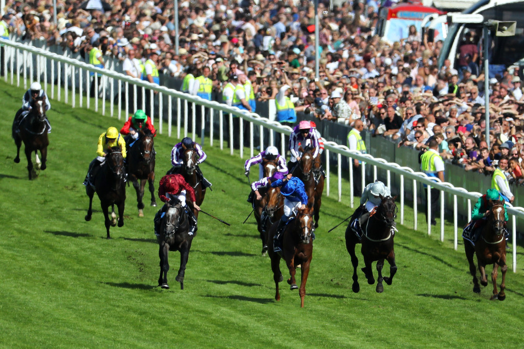 Masar runs on to win the Derby at Epsom Downs.
