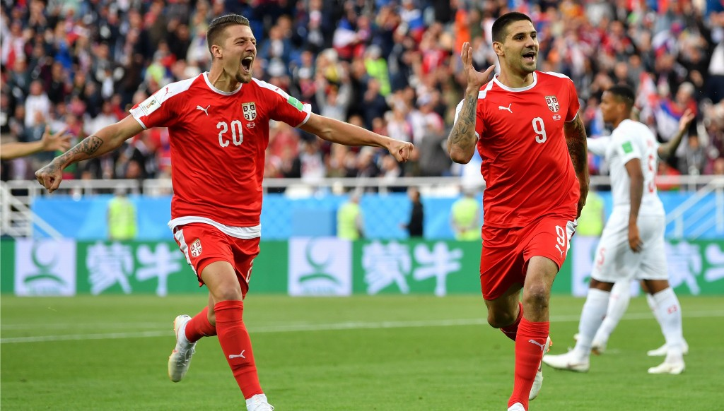 Aleksandar Mitrovic opened the scoring in style for Serbia.