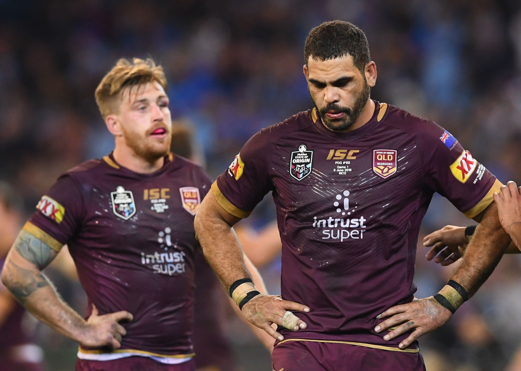 Cameron Munster (r) and Greg Inglis look forward to the sequel.