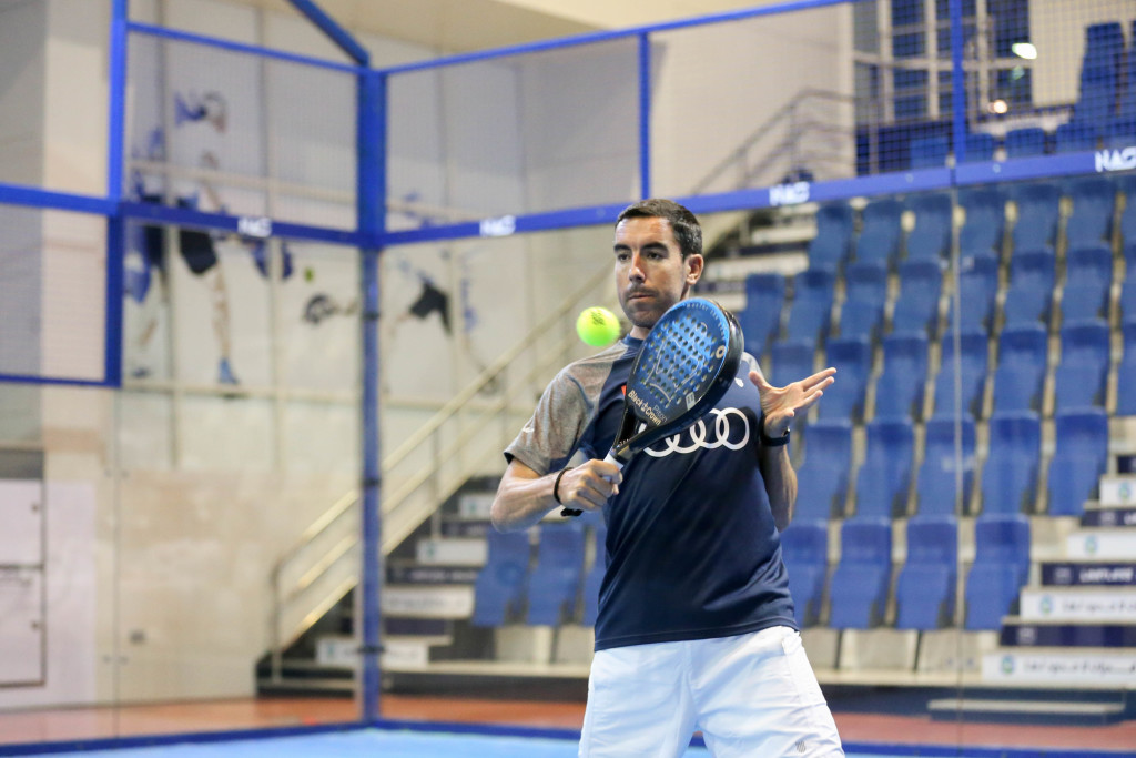 Action from the NAS Padel Tennis Tournament