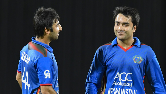 Rashid Khan with Asghar Stanikzai.
