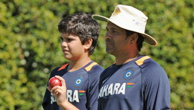 Sachin Tendulkar with his son Arjun
