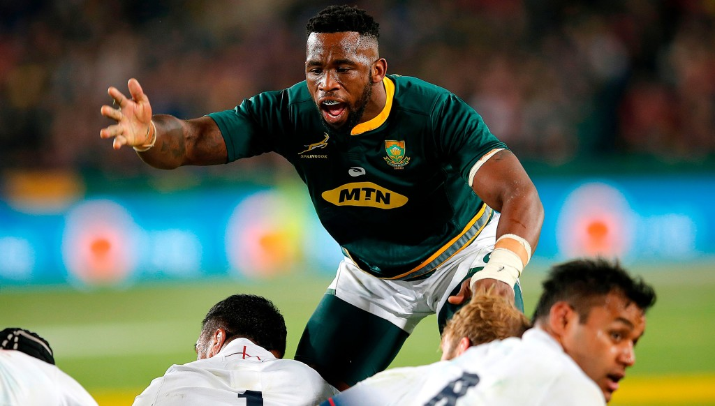 Siya Kolisi led the Springboks to victory over England in his first Test