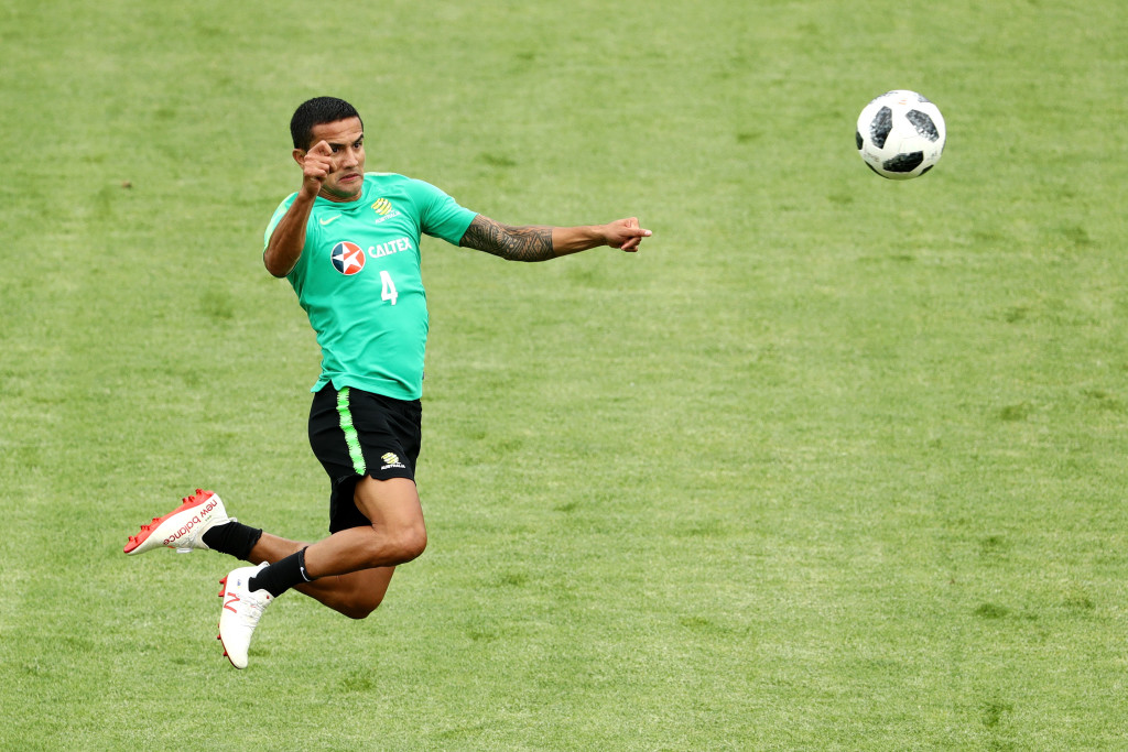 Tim Cahill is learning some new tricks