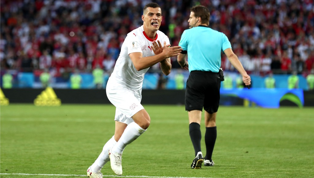 Granit Xhaka scored a stunning equaliser for the Swiss.
