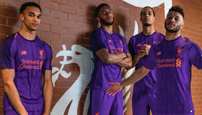 Liverpool launch new 'deep violet' and orange away kit for 2018/19 season