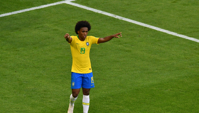 Willian produced a stunning display for Brazil.