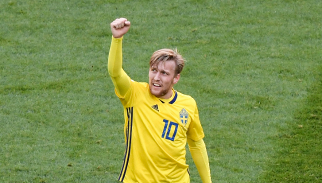 Forsberg scored Sweden's winner to lead them into quarterfinals.