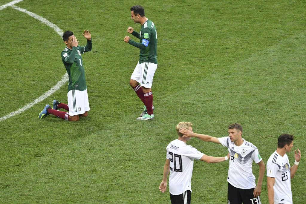 Lozano celebrated while Germany wondered what went wrong.