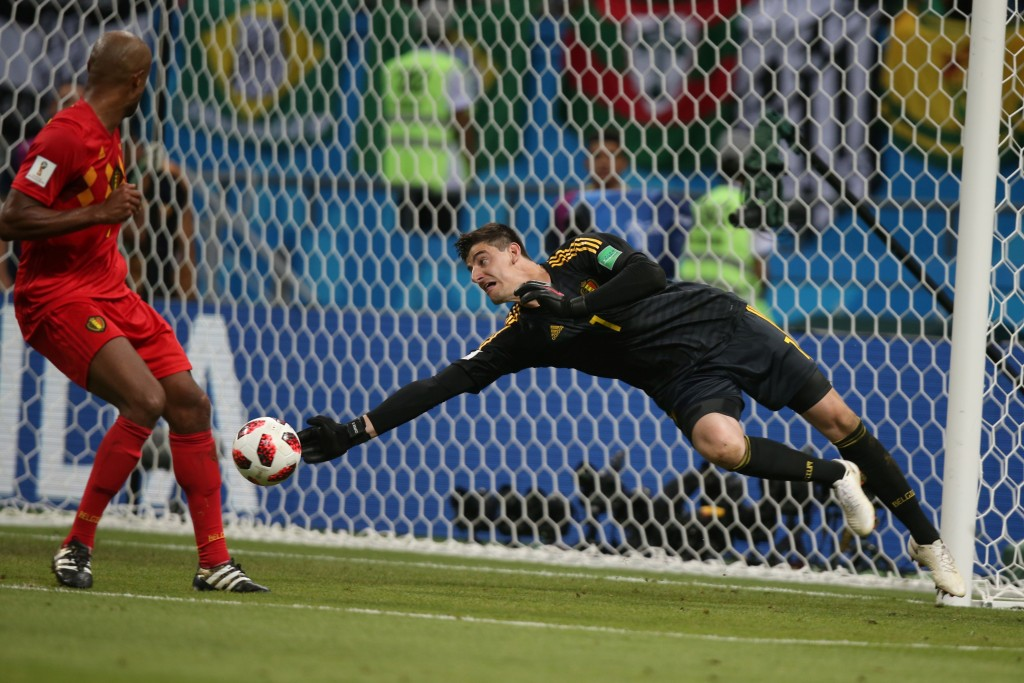 Courtois has been in superb form at the World Cup.