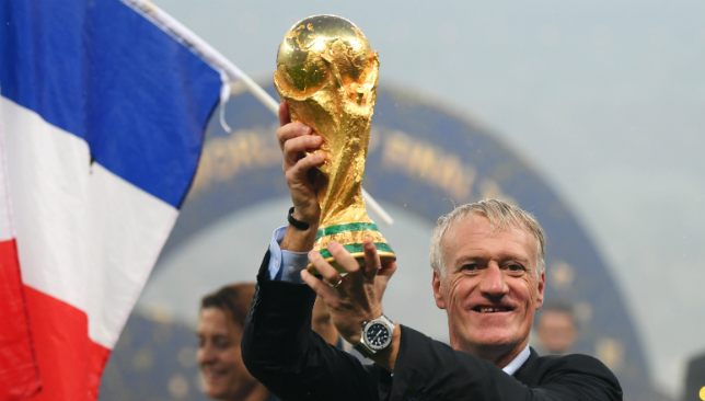 World Cup-winning manager Didier Deschamps.
