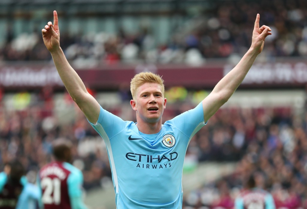 Kevin de Bruyne led Manchester City's stunning dominance of the Premier League.