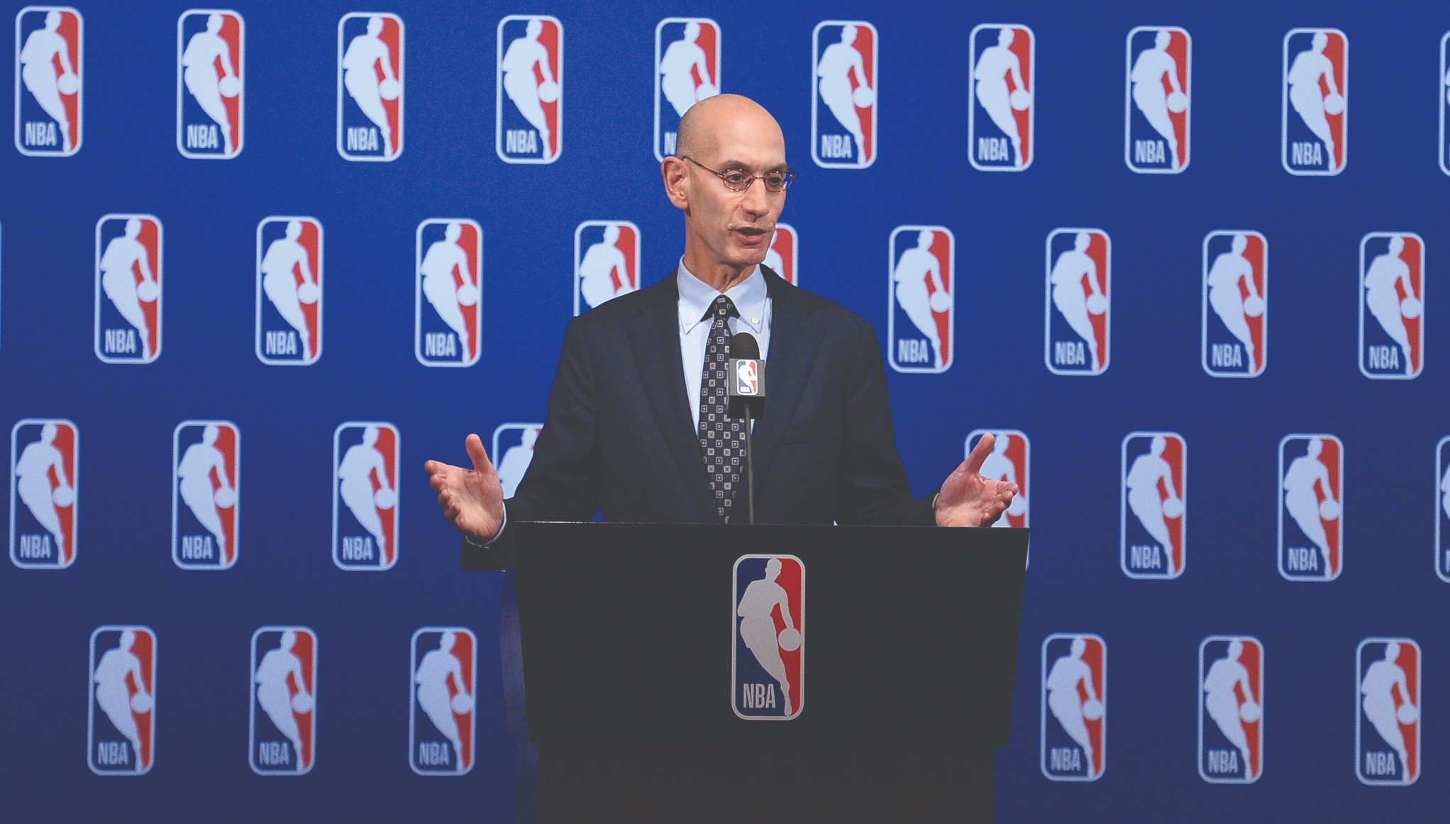 9bcc0aba972 NBA commissioner Adam Silver says Golden State Warriors  dominance not bad  for league
