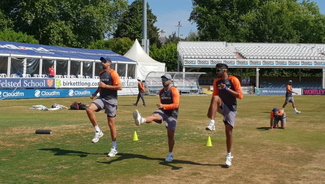 Bumrah trains with the team at Chelmsford. Image - BCCI/Twitter.