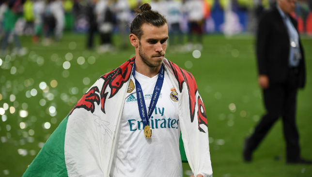 Bale with his winner's medal