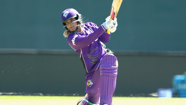 Krishnamurthy featured for Hobart Hurricanes in the Women's Big Bash League
