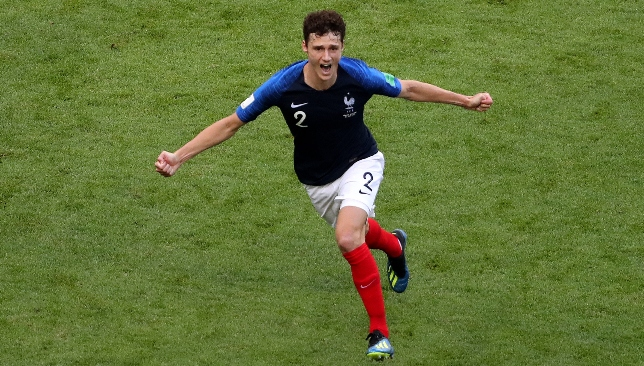 Sensation: Benjamin Pavard has emerged as a big player for Les Bleus.