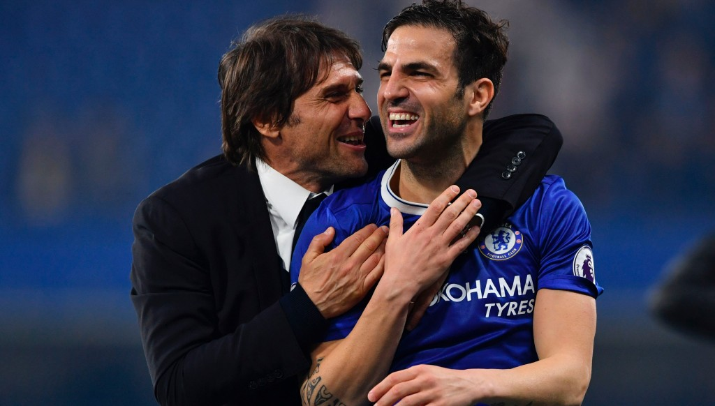 Cesc Fabregas has praised departing boss Antonio Conte