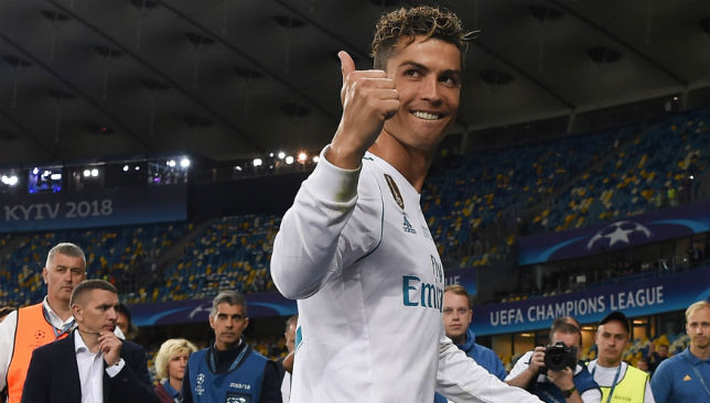 Cristiano Ronaldo won four Champions League titles with Real Madrid.