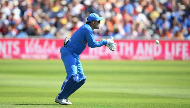 Dhoni claimed a record five catches in the T20 decider against England.